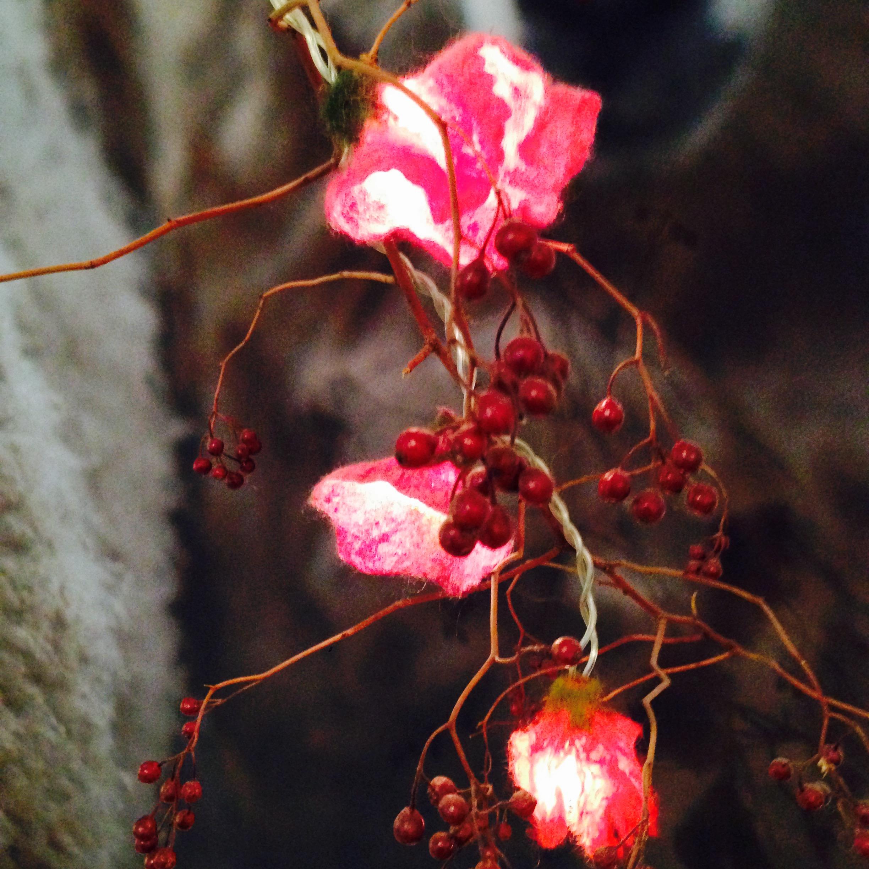 03 blumen blüten blätter und lichterketten mit sabine